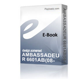 AMBASSADEUR 6601AB(08-00) Schematics and Parts sheet | eBooks | Technical