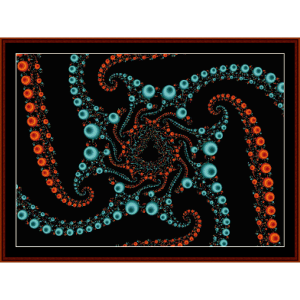 Fractal 105 cross stitch pattern by Cross Stitch Collectibles | Crafting | Cross-Stitch | Wall Hangings