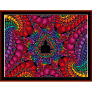 Fractal 106 cross stitch pattern by Cross Stitch Collectibles | Crafting | Cross-Stitch | Wall Hangings