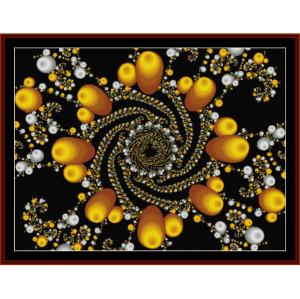 fractal 108 cross stitch pattern by cross stitch collectibles
