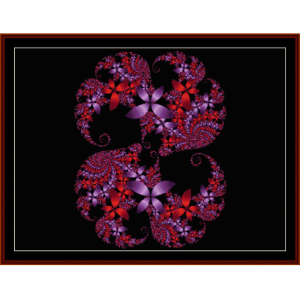 fractal 112 cross stitch pattern by cross stitch collectibles