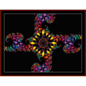 Fractal 113 cross stitch pattern by Cross Stitch Collectibles | Crafting | Cross-Stitch | Wall Hangings