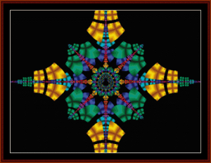 Fractal 120 cross stitch pattern by Cross Stitch Collectibles | Crafting | Cross-Stitch | Wall Hangings