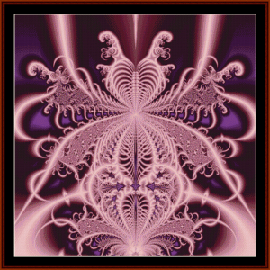 Fractal 24 cross stitch pattern by Cross Stitch Collectibles | Crafting | Cross-Stitch | Wall Hangings