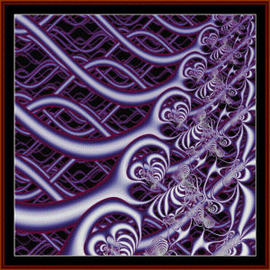 Fractal 28 cross stitch pattern by Cross Stitch Collectibles | Crafting | Cross-Stitch | Wall Hangings