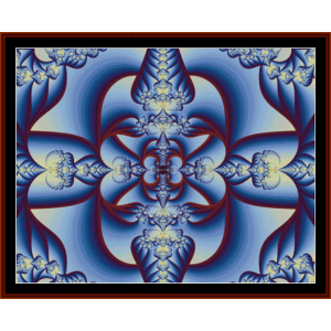 Fractal 46 cross stitch pattern by Cross Stitch Collectibles | Crafting | Cross-Stitch | Wall Hangings