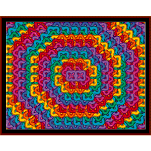 Fractal 51 cross stitch pattern by Cross Stitch Collectibles | Crafting | Cross-Stitch | Wall Hangings