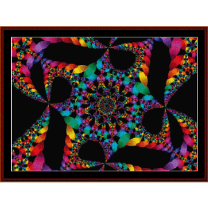 fractal 59 cross stitch pattern by cross stitch collectibles