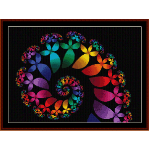 Fractal 60 cross stitch pattern by Cross Stitch Collectibles | Crafting | Cross-Stitch | Wall Hangings