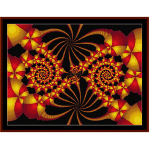 Fractal 69 cross stitch pattern by Cross Stitch Collectibles | Crafting | Cross-Stitch | Wall Hangings