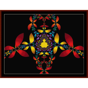 Fractal 70 cross stitch pattern by Cross Stitch Collectibles | Crafting | Cross-Stitch | Wall Hangings