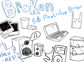 'Broken' Photoshop Brush Pack