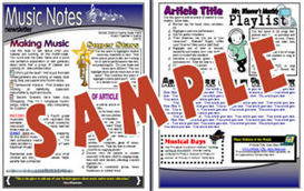 Music Notes 2 Page COLOR Newsletter | Other Files | Patterns and Templates