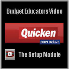 Quicken Deluxe 2009- The Setup Module | Movies and Videos | Educational
