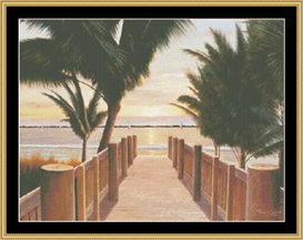 Palm Promenade | Crafting | Cross-Stitch | Other