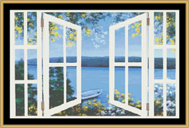Island Time With Windows | Crafting | Cross-Stitch | Other