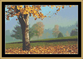 Leaves On The Green | Crafting | Cross-Stitch | Other