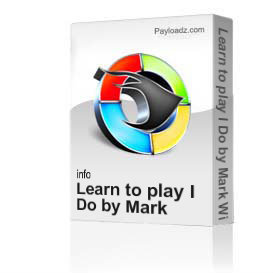 Learn to play I Do by Mark Wills | Movies and Videos | Educational
