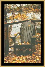 Leaves On The Chair | Crafting | Cross-Stitch | Other