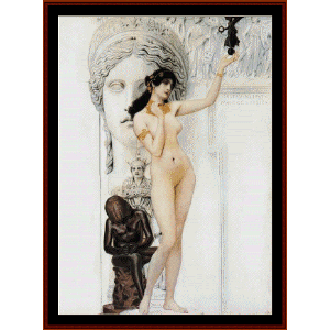 Allegory of Sculpture - Klimt cross stitch pattern by Cross Stitch Collectibles | Crafting | Cross-Stitch | Wall Hangings