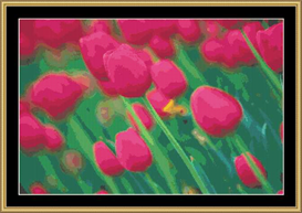Red Tulip Abstract | Crafting | Cross-Stitch | Other