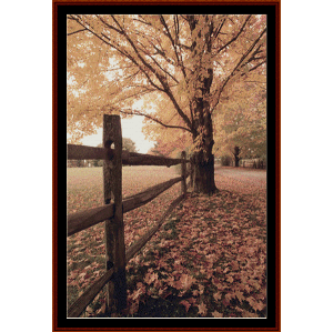 Autumn Lane - Nature cross stitch pattern by Cross Stitch Collectibles | Crafting | Cross-Stitch | Wall Hangings