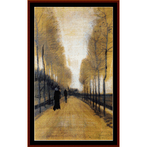 Avenue with Trees - Van Gogh cross stitch pattern by Cross Stitch Collectibles | Crafting | Cross-Stitch | Wall Hangings