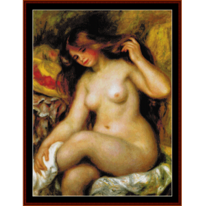 Bather with Hat - Renoir cross stitch pattern by Cross Stitch Collectibles | Crafting | Cross-Stitch | Wall Hangings