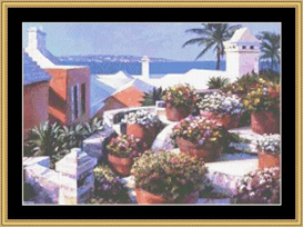 Mediterranean View | Crafting | Cross-Stitch | Other