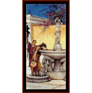 between venus and bacchus - alma tadema cross stitch pattern by cross stitch collectibles