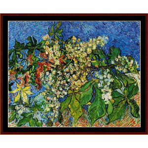 Blooming Chestnut Branches - Van Gogh cross stitch pattern by Cross Stitch Collectibles | Crafting | Cross-Stitch | Wall Hangings