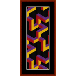 Fractal 235 Bookmark cross stitch pattern by Cross Stitch Collectibles | Crafting | Cross-Stitch | Other