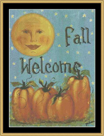 Fall Welcome Flag | Crafting | Cross-Stitch | Other