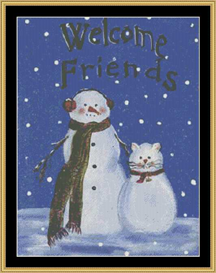 Welcome Friends Flag | Crafting | Cross-Stitch | Other