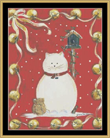 Cat Snowman | Crafting | Cross-Stitch | Other