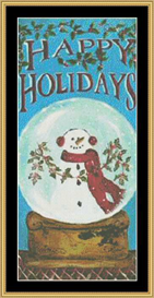 Snow Globe Holiday | Crafting | Cross-Stitch | Other