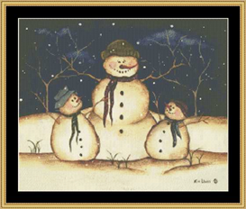 Three Snowmen | Crafting | Cross-Stitch | Other
