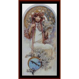 Ivanice - Mucha cross stitch pattern by Cross Stitch Collectibles | Crafting | Cross-Stitch | Wall Hangings