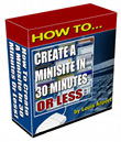 How to Create a Minisite in 30 Minutes or Less | Software | Training