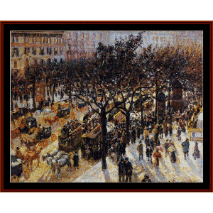 Boulevard des Italiens - Pissarro cross stitch pattern by Cross Stitch Collectibles | Crafting | Cross-Stitch | Wall Hangings