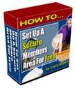 set up a secure members area | eBooks | Internet