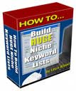How to Build Huge Niche Keyword Lists | eBooks | Internet