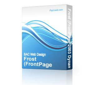 Frost (DWT) | Software | Design Templates