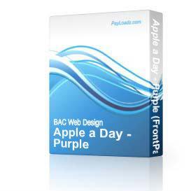 Apple a Day - Purple (DWT) | Software | Design Templates
