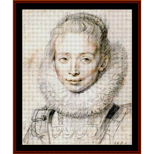 Chambermaid - Rubens cross stitch pattern by Cross Stitch Collectibles | Crafting | Cross-Stitch | Wall Hangings