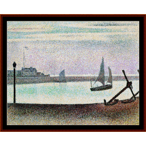 Channel at Gravelines - Seurat cross stitch pattern by Cross Stitch Collectibles | Crafting | Cross-Stitch | Wall Hangings