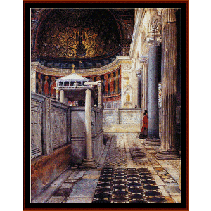 Church of San Clemente Rome - Alma Tadema cross stitch pattern by Cross Stitch Collectibles | Crafting | Cross-Stitch | Wall Hangings