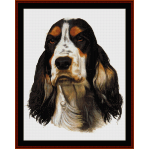 English Cocker Spaniel - Robt. J. May cross stitch pattern by Cross Stitch Collectibles | Crafting | Cross-Stitch | Wall Hangings