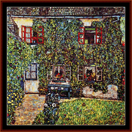 Das Haus on Guardaboschi - Klimt cross stitch pattern by Cross Stitch Collectibles | Crafting | Cross-Stitch | Wall Hangings