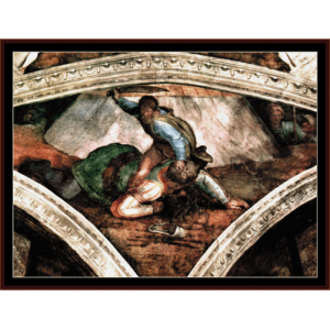 david and goliath - michelangelo cross stitch pattern by cross stitch collectibles